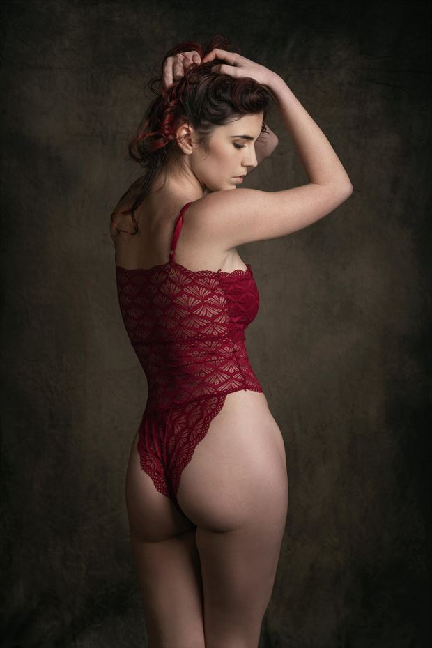 woman in red sensual photo by model chiara_kia