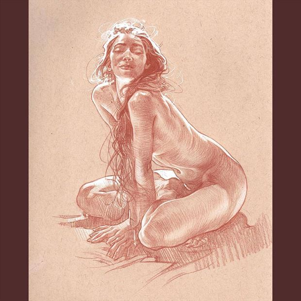 work by james martin artistic nude artwork by model the_preraphaelite_woman