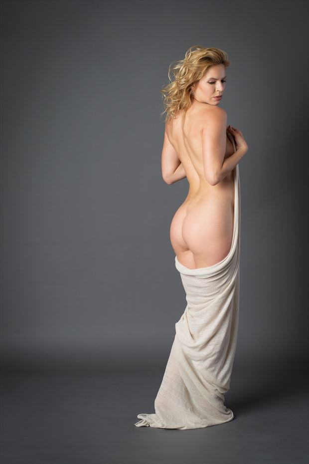 wrapped up artistic nude photo by photographer paul brady