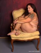 yellow chair artistic nude artwork by model verotikasynful