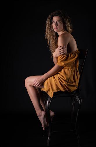 yellow dress studio lighting artwork by photographer gsphotoguy