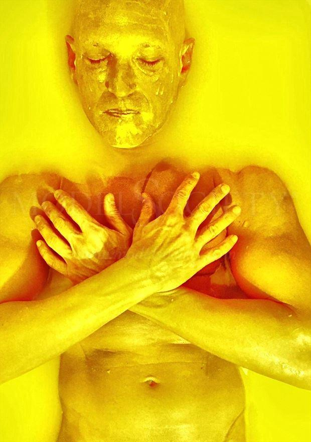 yellow surreal photo by model avid light
