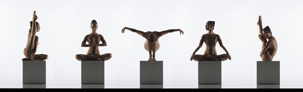 yoga artistic nude artwork by photographer arcis