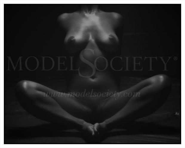 yoga stretching artistic nude photo by photographer csdewittphotography