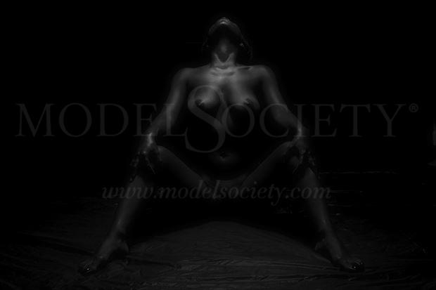 yogini posing studio artistic nude photo by photographer csdewittphotography