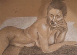 you were saying artistic nude artwork by artist alexandros makris