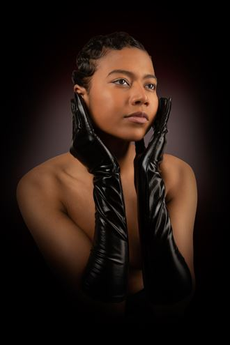 young woman with stylish hair portrait photo by photographer henney