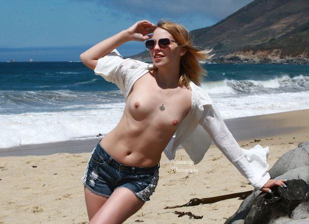 zara at garrapata artistic nude photo by photographer alan james