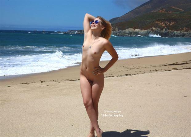 zara diesel on the beach artistic nude photo by photographer alan james