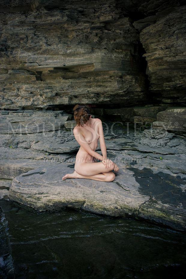 zen rock artistic nude photo by photographer michael grace martin