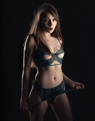 ziva in green lingerie photo by photographer reimaginemestudios