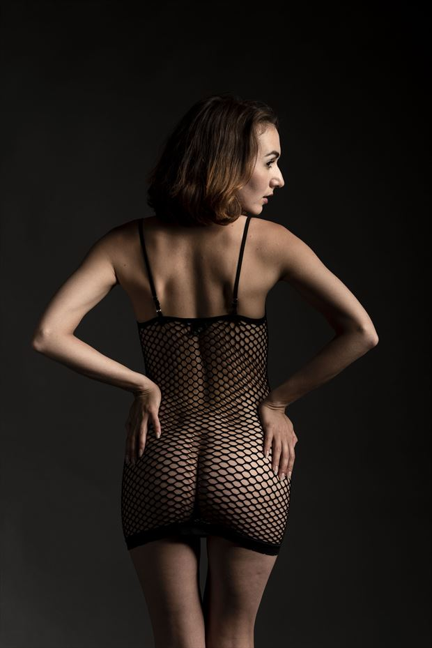 zoe west little black dress artistic nude photo by photographer depa kote