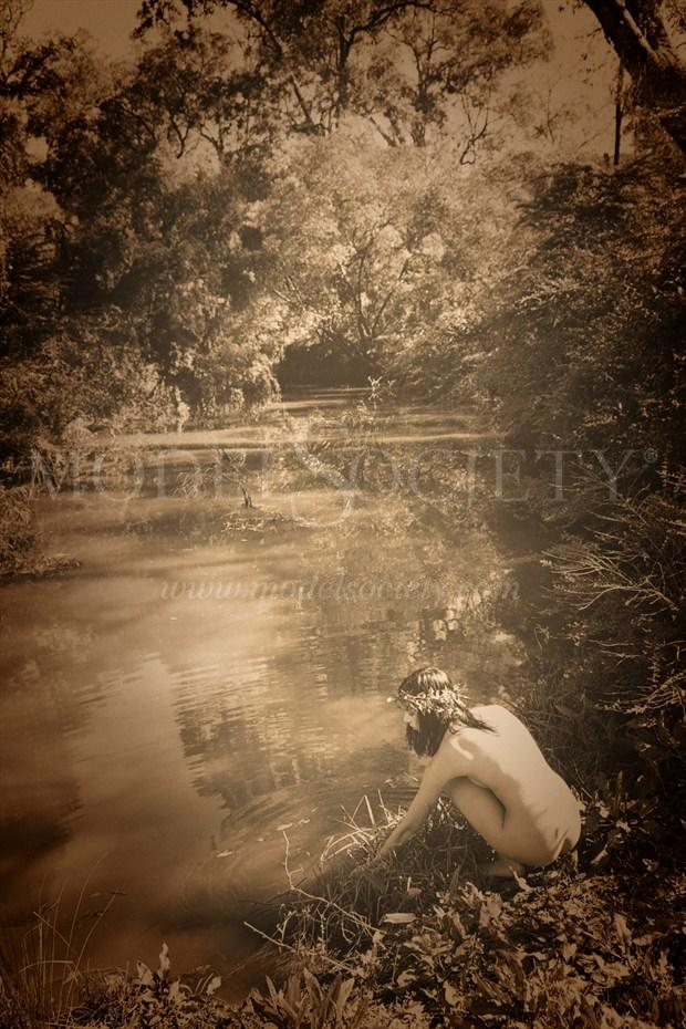 In A Tree By The Brook There's A Songbird Who Sings Artistic Nude Photo print by Photographer Rowanmacs