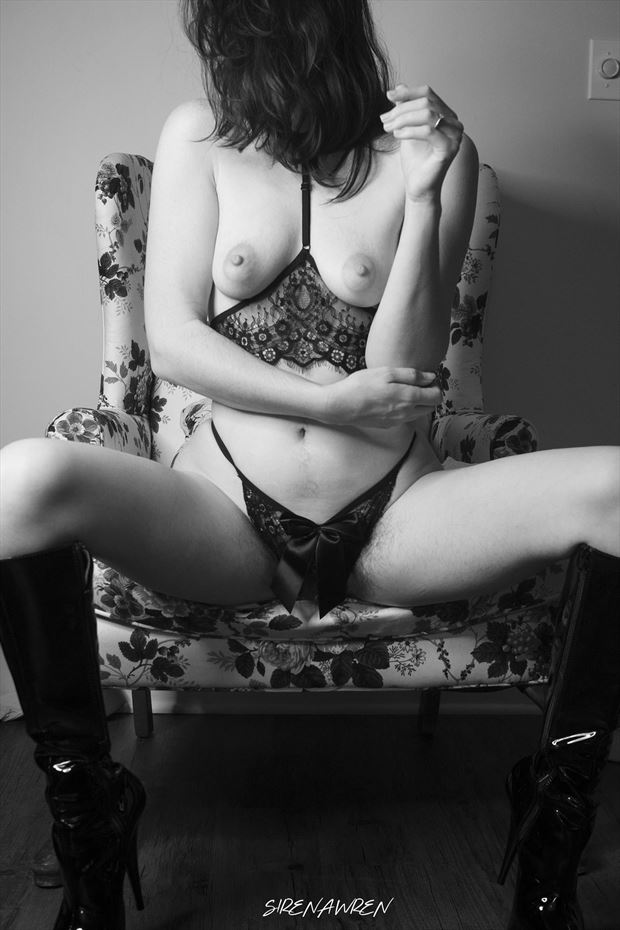 boots artistic nude photo print by photographer sirena wren