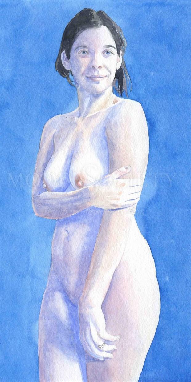 2011, Watercolor Artistic Nude Artwork print by Artist aquarellist
