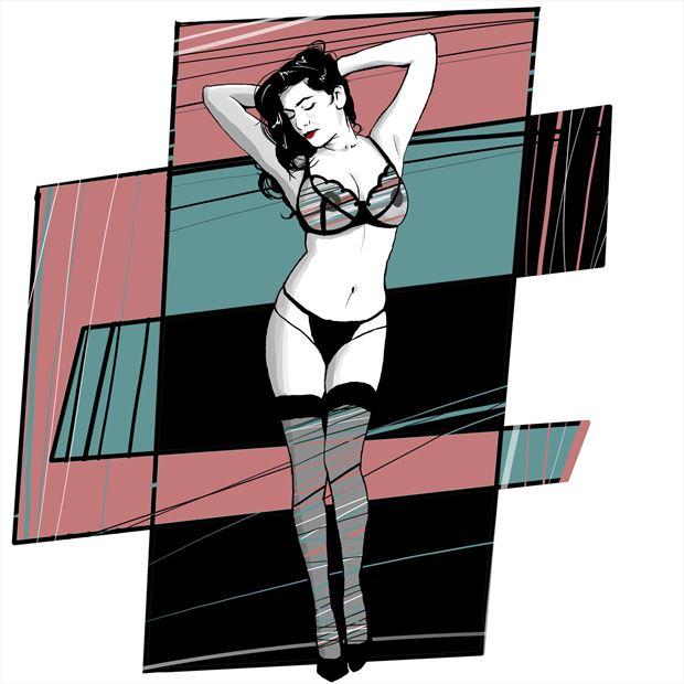 80s devi 2 lingerie artwork print by artist nick kozis