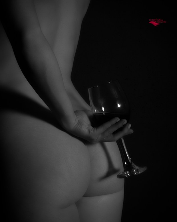 A Glass of Wine Artistic Nude Artwork print by Photographer Miller Box Photo