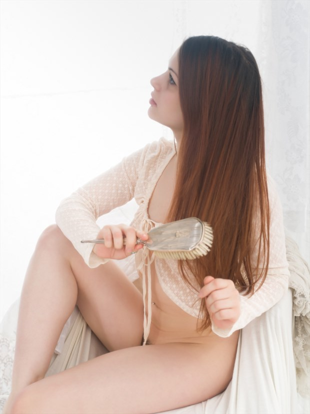 A hair brush Artistic Nude Photo print by Photographer Bruce M Walker