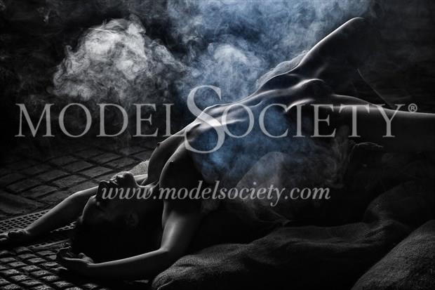 Adding Incense Erotic Photo print by Photographer Carl Grim