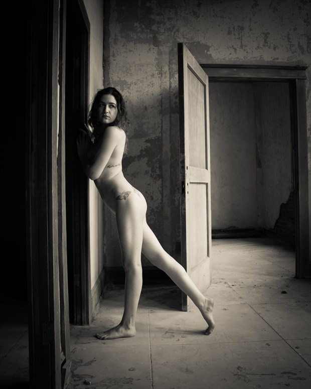 Alice in Frames Artistic Nude Photo print by Photographer Frisson Art