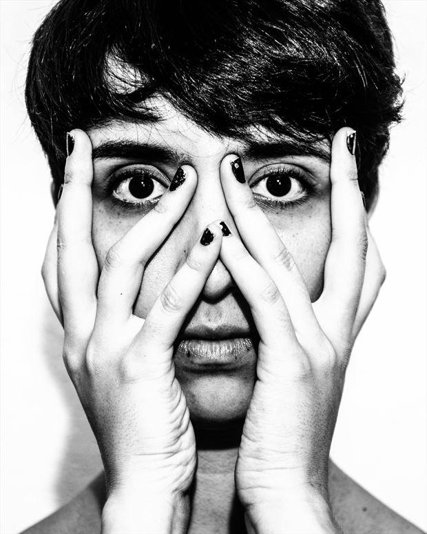 Alternative Model Portrait Photo print by Photographer kunstmann