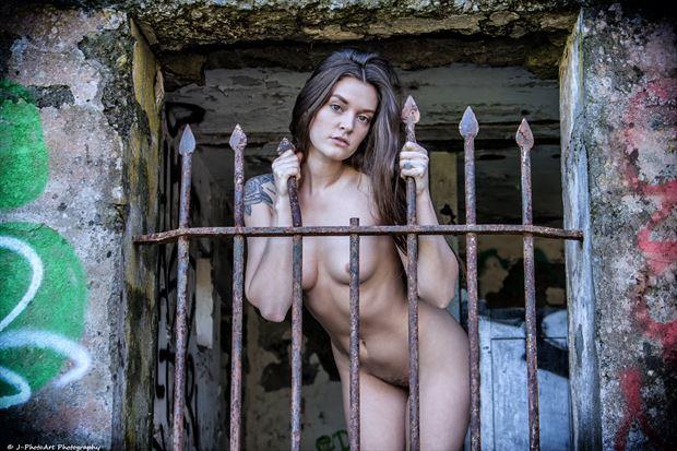 Amber Flowers Artistic Nude Photo print by Photographer J Photoart