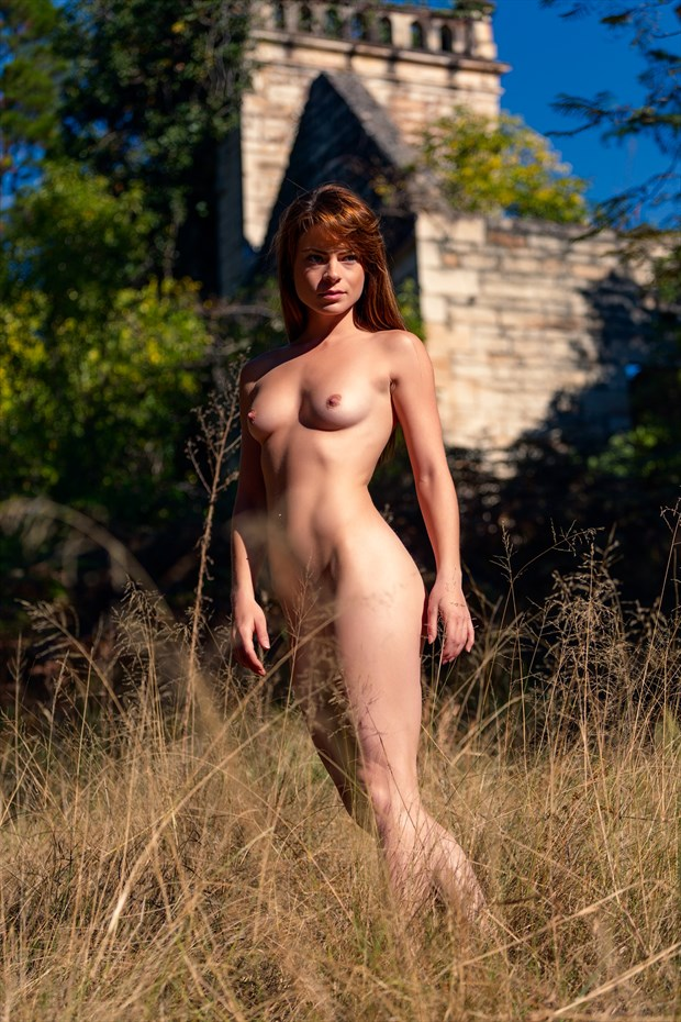 Amongst the Grass Artistic Nude Photo print by Photographer Stephen Wong