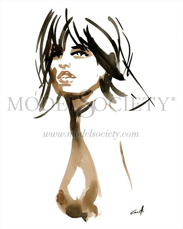 Anemone Artistic Nude Artwork print by Artist Michel Canetti