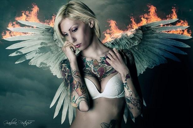 Angel's Whiper Artistic Nude Artwork print by Artist Gianluca Festinese