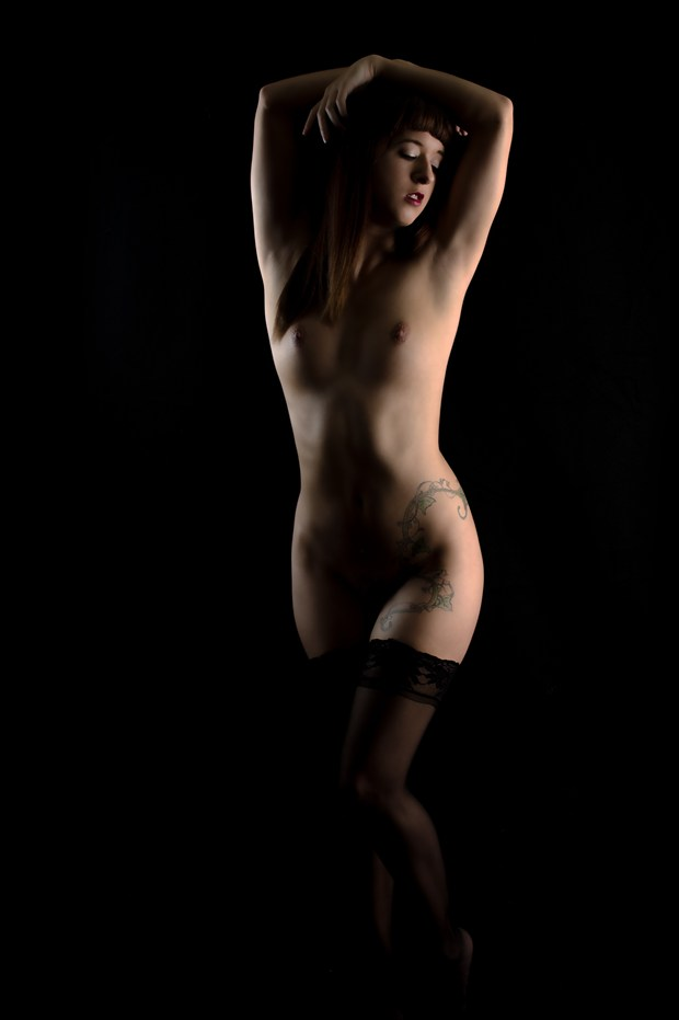 Arched Artistic Nude Photo print by Photographer Kor