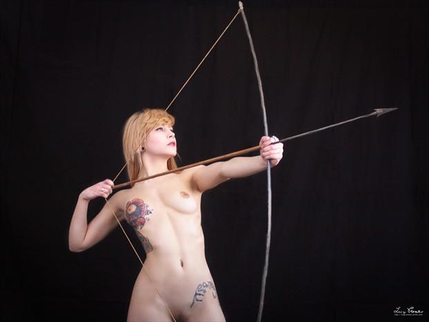 Arrow Artistic Nude Photo print by Photographer Luigi Prearo