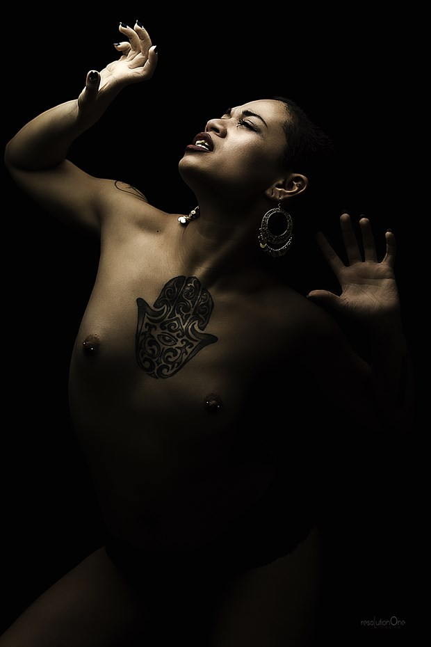 Artistic Nude Chiaroscuro Photo print by Photographer ResolutionOneImaging