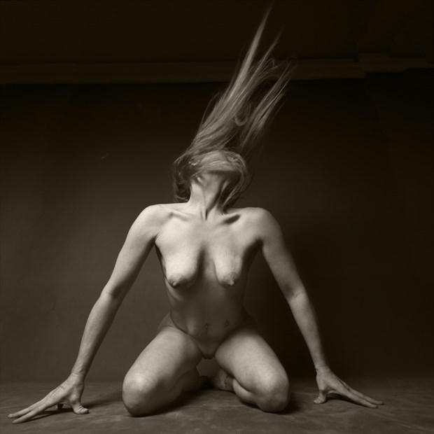 Artistic Nude Studio Lighting Photo print by Photographer CurvedLight