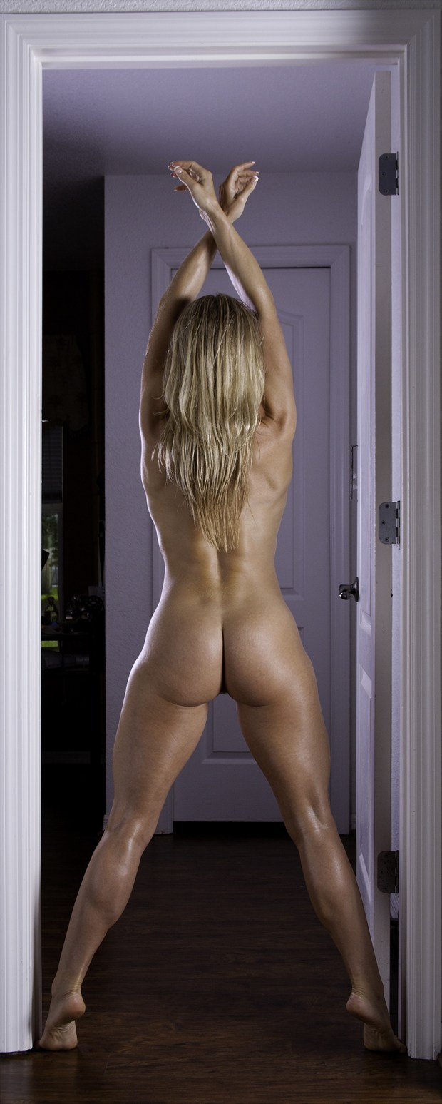 Artistic Physique doorway backside Artistic Nude Photo print by Photographer Chris Gursky