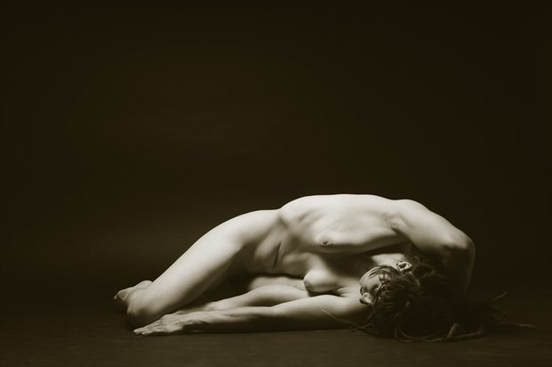 As the Female Relaxes Artistic Nude Photo print by Photographer Mark Bigelow