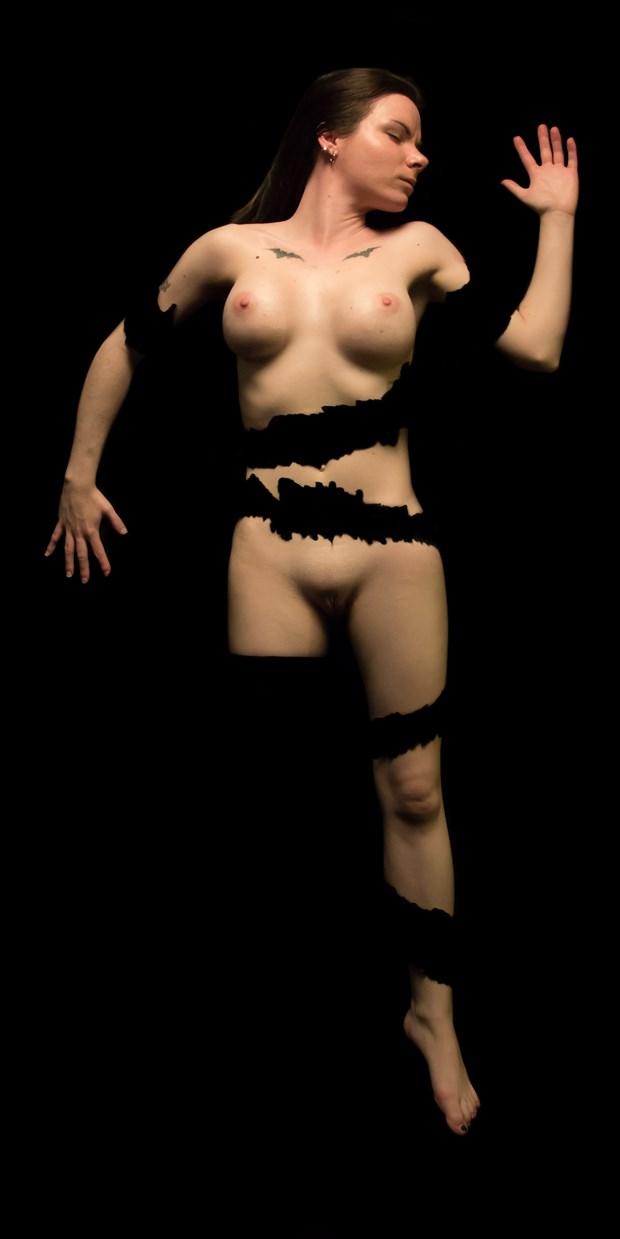 Ashley Shredded 01 Artistic Nude Photo print by Artist Freddie Graves