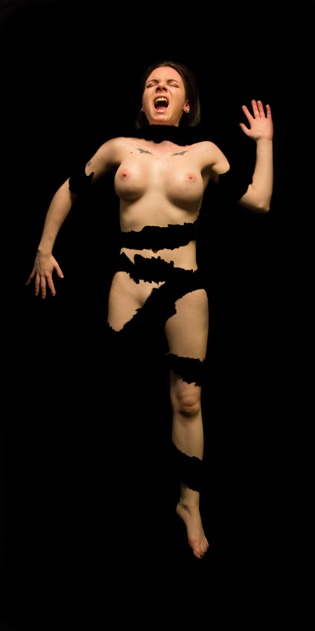 Ashley Shredded 02 Artistic Nude Photo print by Artist Freddie Graves