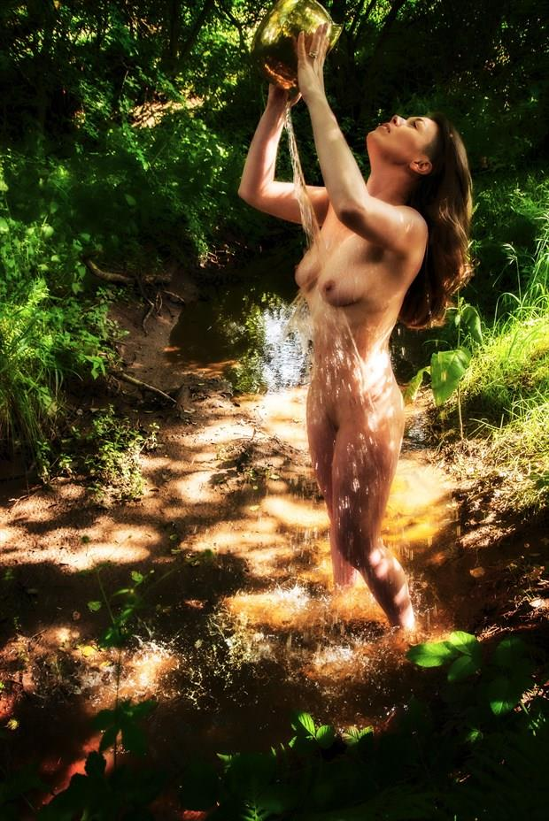 Aurora Skye in the Stream Artistic Nude Photo print by Photographer Ian Cartwright