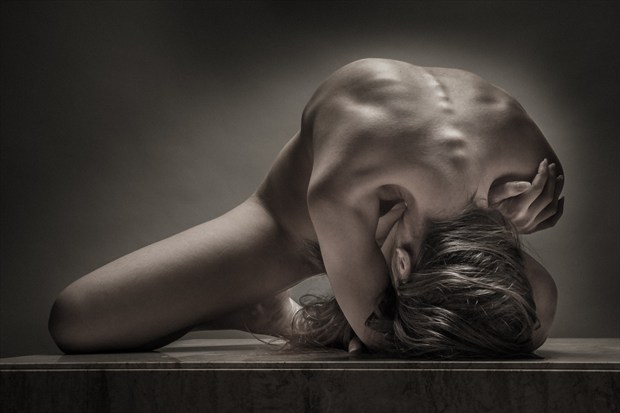Back Bend Two Artistic Nude Photo print by Photographer rick jolson