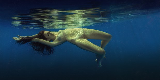 Beautiful blue Artistic Nude Photo print by Photographer dml