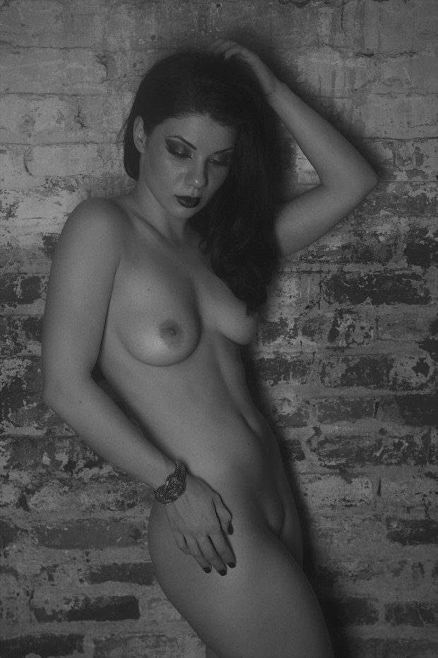 Beauty, against a Wall Artistic Nude Photo print by Photographer CSDewitt Buck