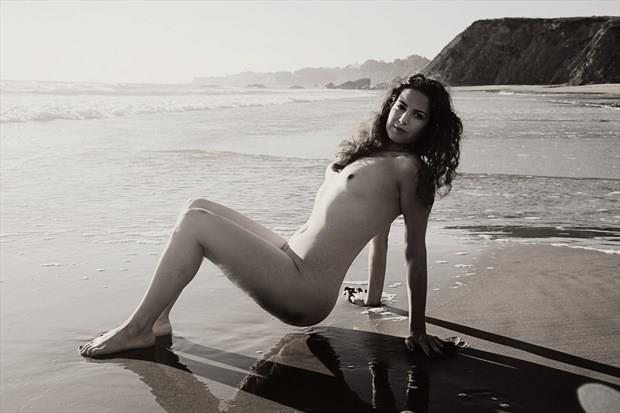 Beauty & the Bluffs Artistic Nude Photo print by Artist AnneDeLion