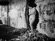 Beauty in the Ruins Artistic Nude Artwork print by Photographer Thom Peters Photog