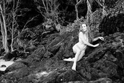 Beauty on Lava Artistic Nude Artwork print by Photographer Thom Peters Photog