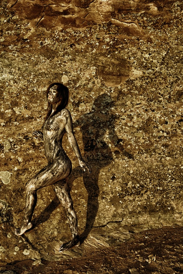 Becca in Moab Artistic Nude Photo print by Photographer Gunnar