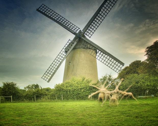 Bembridge Windmill Artistic Nude Photo print by Photographer Mark Davy Jones