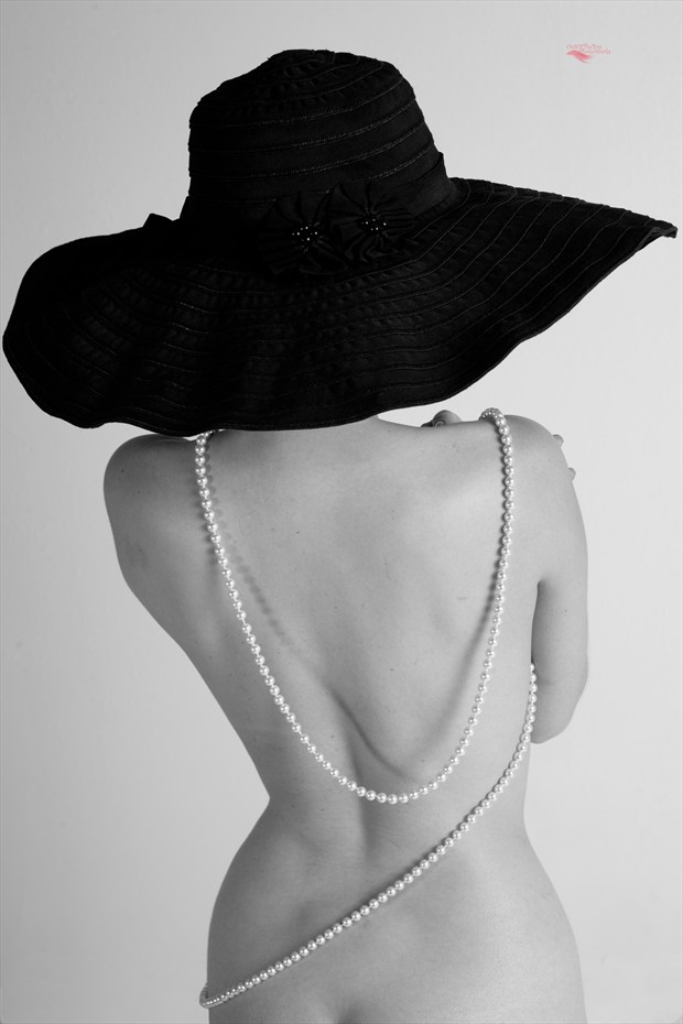 Black Hat and Pearls II Artistic Nude Artwork print by Photographer Miller Box Photo