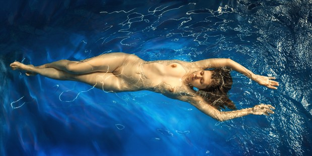 Bliss water Artistic Nude Photo print by Photographer dml