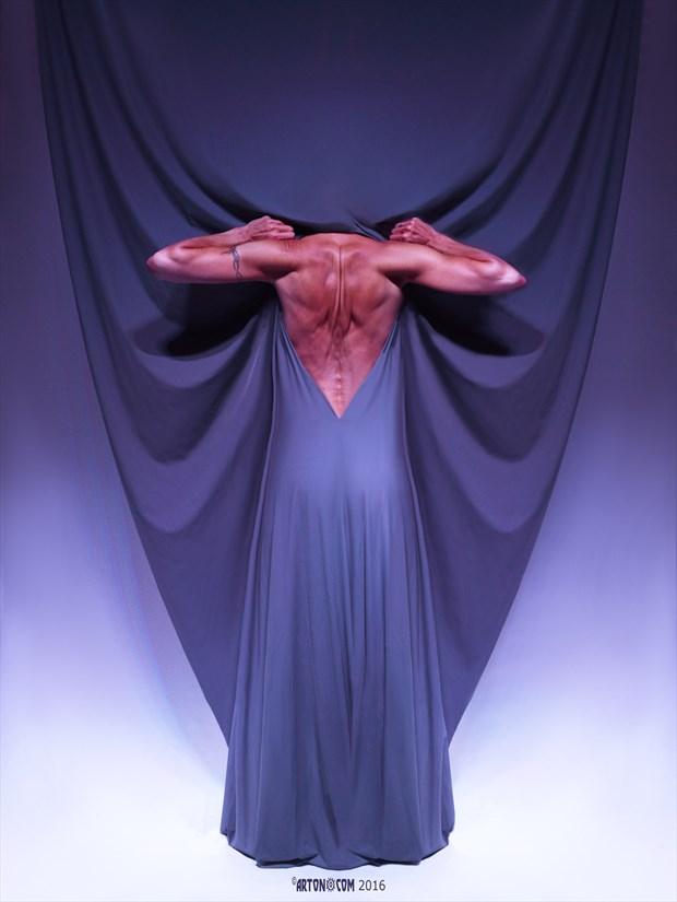 Blue Artistic Nude Artwork print by Photographer Arton