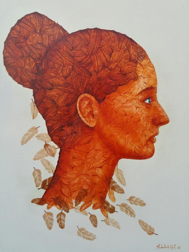 Body Painting Expressive Portrait Artwork print by Artist Ali